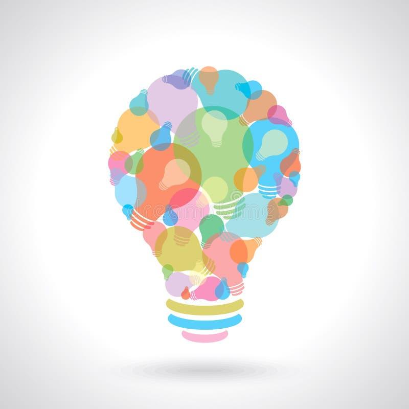 Concepto creativo de la idea con el bulbo libre illustration