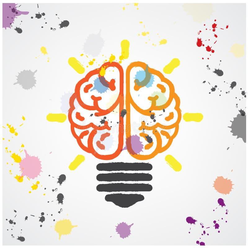 Concepto creativo de la idea de la bombilla, símbolo colorido del salvado libre illustration