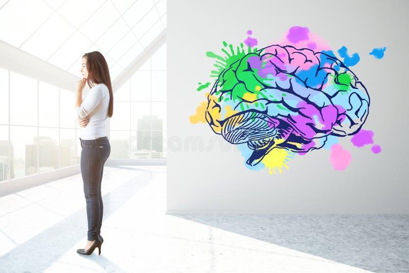 Concepto creativo de la mente ilustración del vector