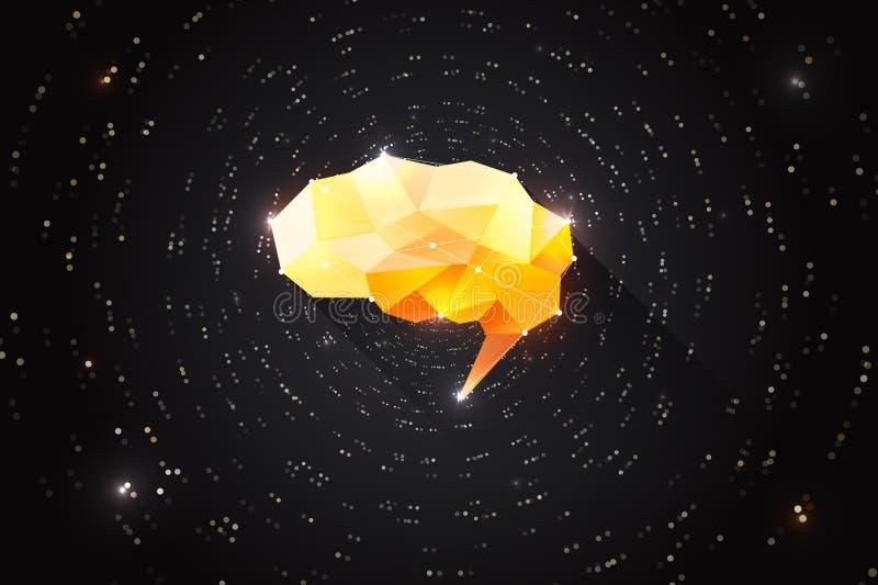 Concepto creativo de la motivación de poder mental humano Ejemplo de motivación del intercambio de ideas libre illustration