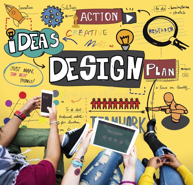 Concepto creativo de las ideas de la inspiración del diseño imagen de archivo libre de regalías