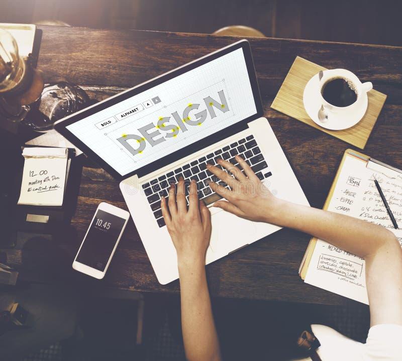 Concepto creativo de las ideas del proyecto del diseño imagenes de archivo