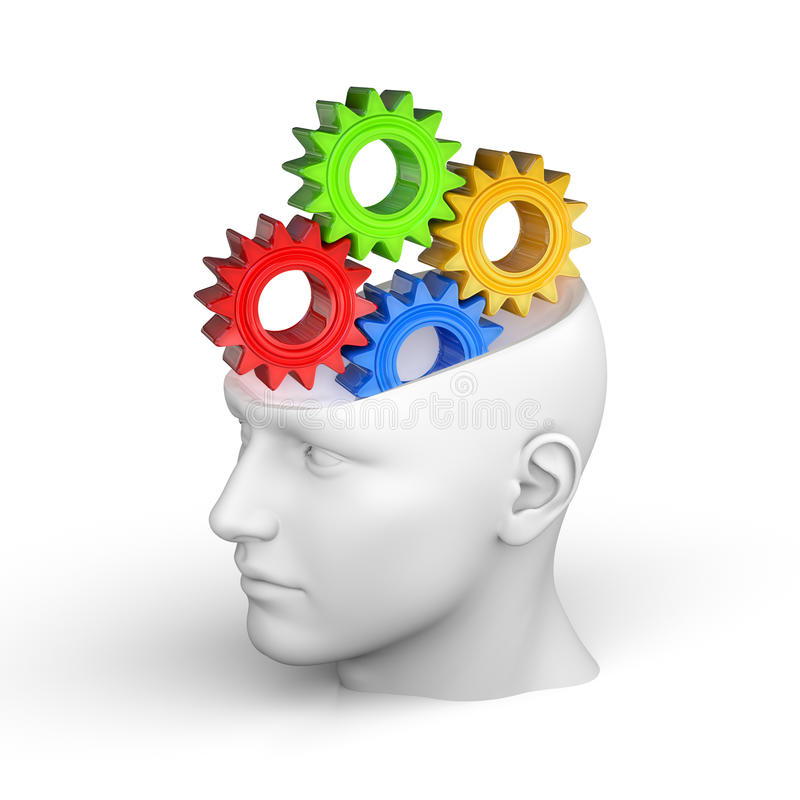 Concepto creativo del cerebro humano libre illustration