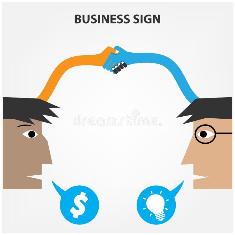 Concepto creativo del negocio stock de ilustración