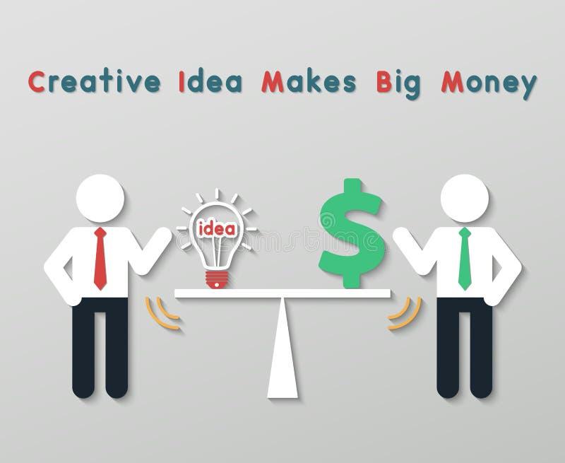 Concepto creativo del negocio de la idea stock de ilustración