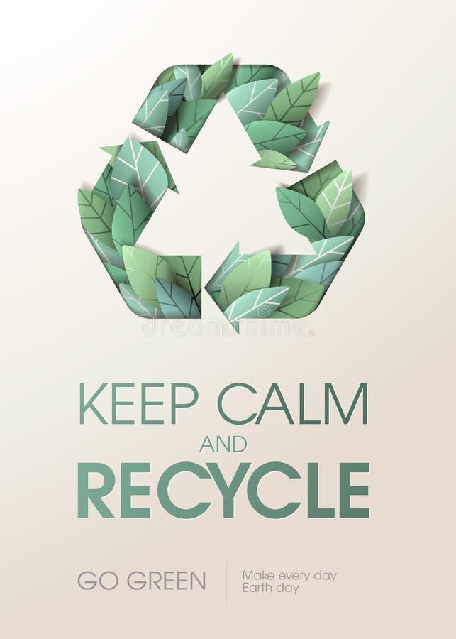 Concepto creativo en el tema del reciclaje y del ambiente libre illustration