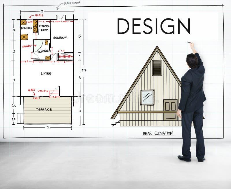 Concepto creativo gráfico del proyecto del propósito de planeamiento del diseño fotografía de archivo