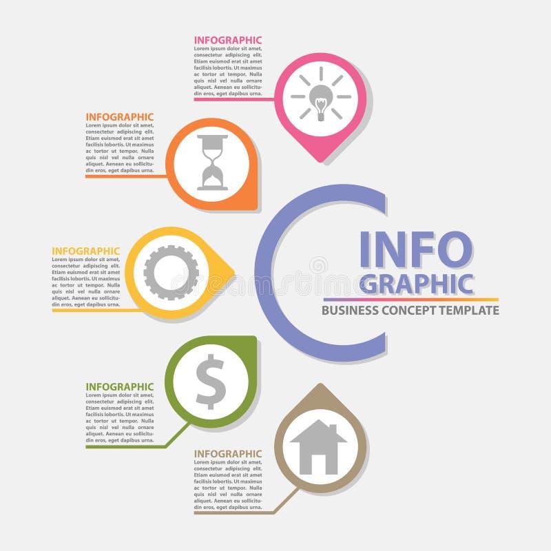 Concepto creativo para el fondo abstracto del infographics libre illustration
