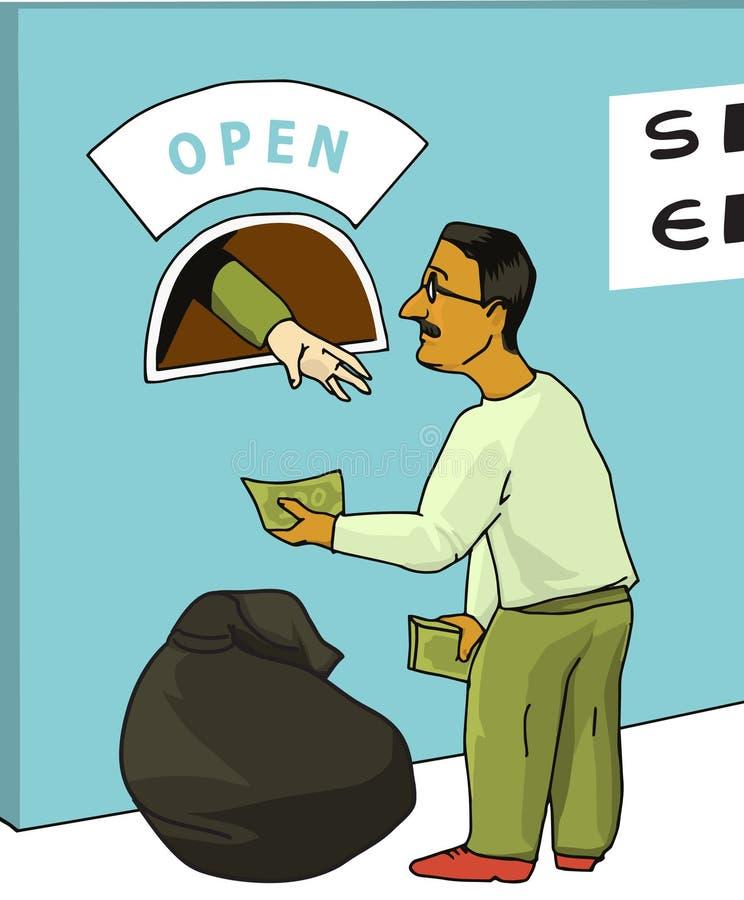 Concepto: crisis financiera, defecto de deuda libre illustration