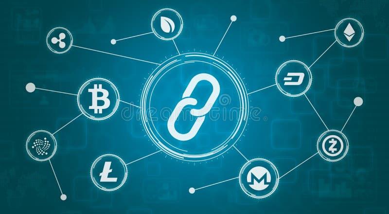 Concepto Crypto de la moneda libre illustration