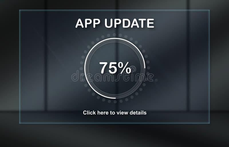 Concepto de actualización de la aplicación libre illustration