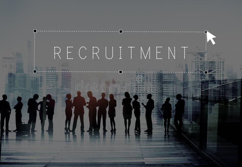 Concepto de alquiler del talento del empleo del empleado del reclutamiento foto de archivo