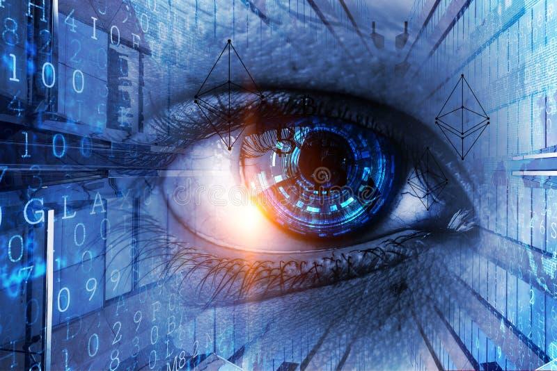 Concepto de alta tecnolog?a abstracto del ojo foto de archivo libre de regalías