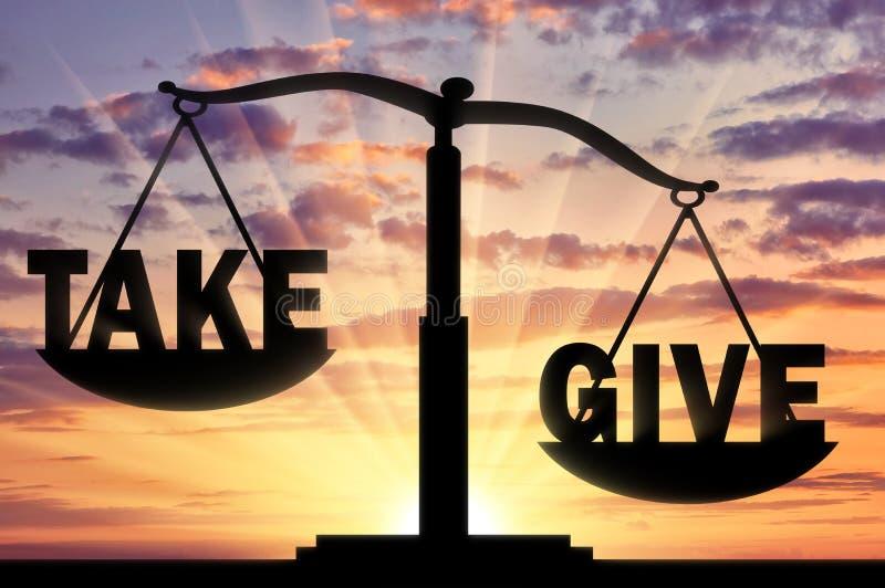 Concepto de altruismo y de donación libre illustration