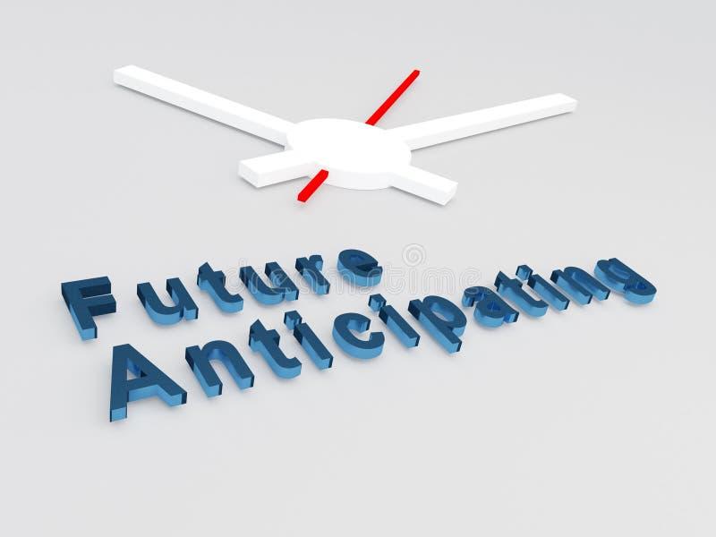 Concepto de anticipación futuro ilustración del vector