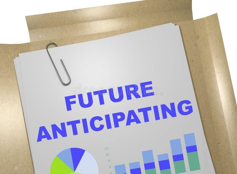 Concepto de anticipación futuro libre illustration