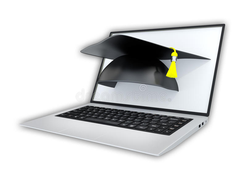 Concepto de aprendizaje en línea libre illustration