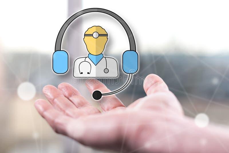 Concepto de asistencia médica en línea foto de archivo libre de regalías