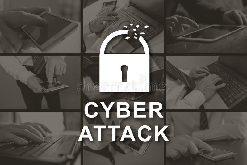 Concepto de ataque cibern?tico foto de archivo
