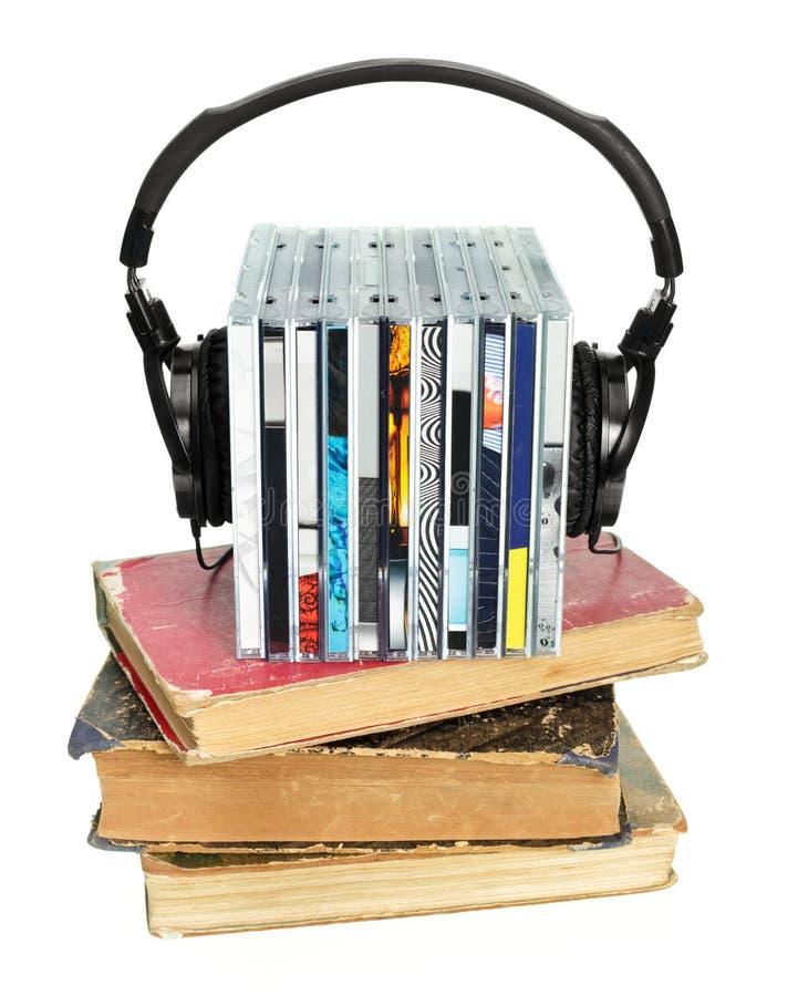 Concepto de Audiobook foto de archivo libre de regalías