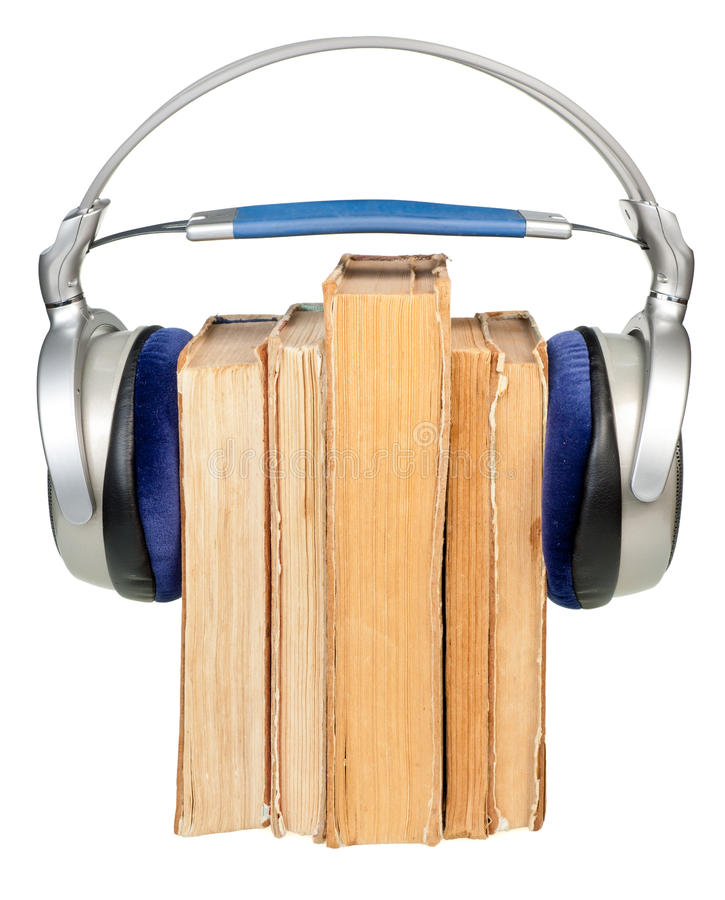 Concepto de Audiobook imagen de archivo