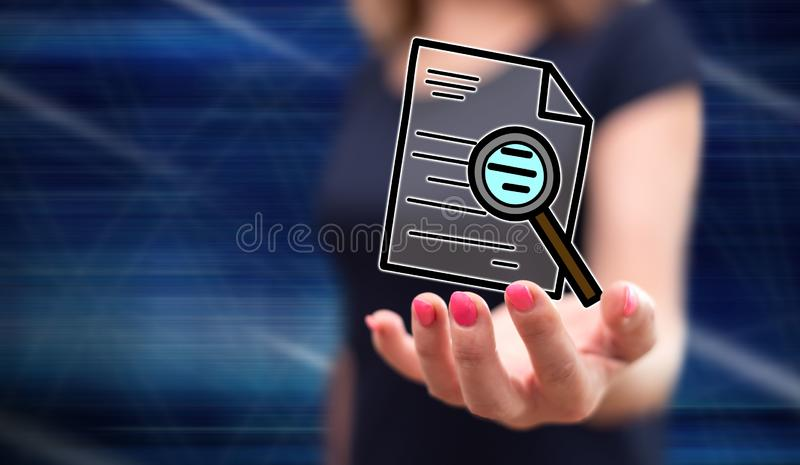 Concepto de auditoría imagen de archivo libre de regalías