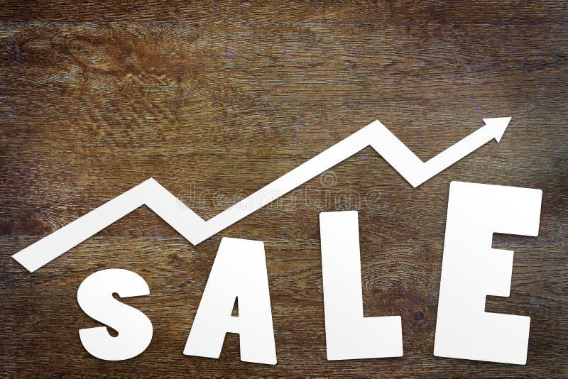 Concepto de aumento de las ventas fotos de archivo
