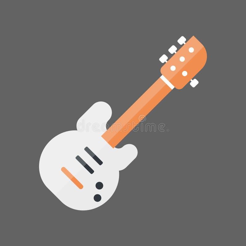 Concepto de Bass Guitar Icon Music Instrument stock de ilustración