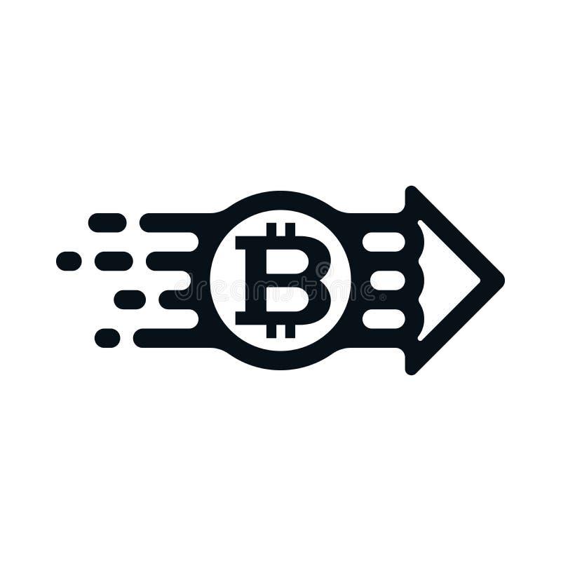 Concepto de bitcoin del remitente al receptor libre illustration
