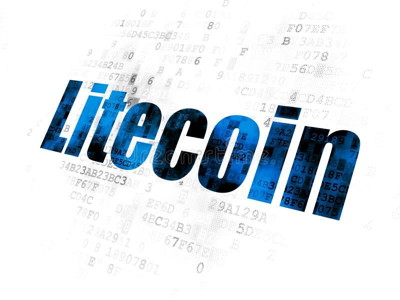 Concepto de Blockchain: Litecoin en el fondo de Digitaces libre illustration