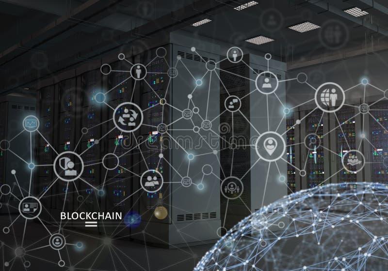 Concepto de Blockchain Plataforma de Cryptocurrency imagen de archivo