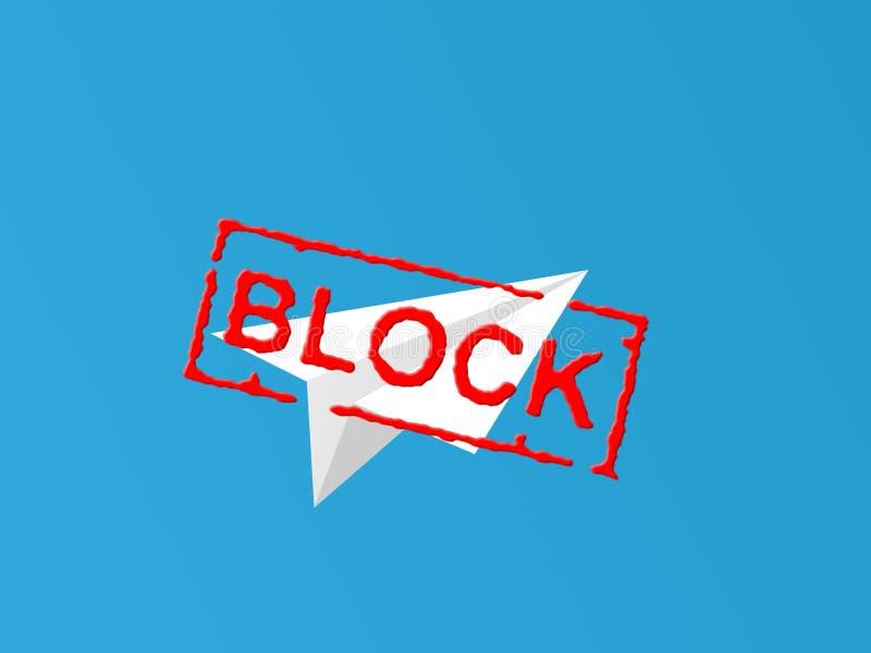 Concepto de bloquear a un mensajero en Rusia foto de archivo libre de regalías