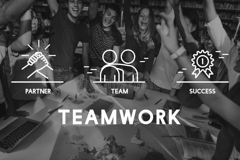 Concepto de Business Collaboration Teamwork Corporation stock de ilustración