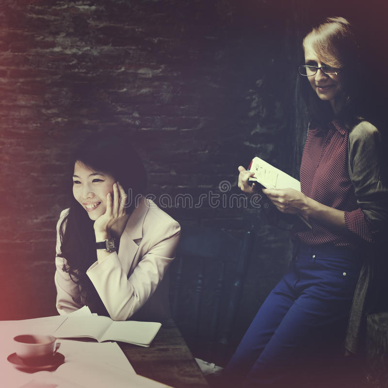 Concepto de Businesswomen Corporate Strategy de la empresaria foto de archivo