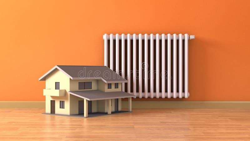 Concepto de calefacción de casa stock de ilustración