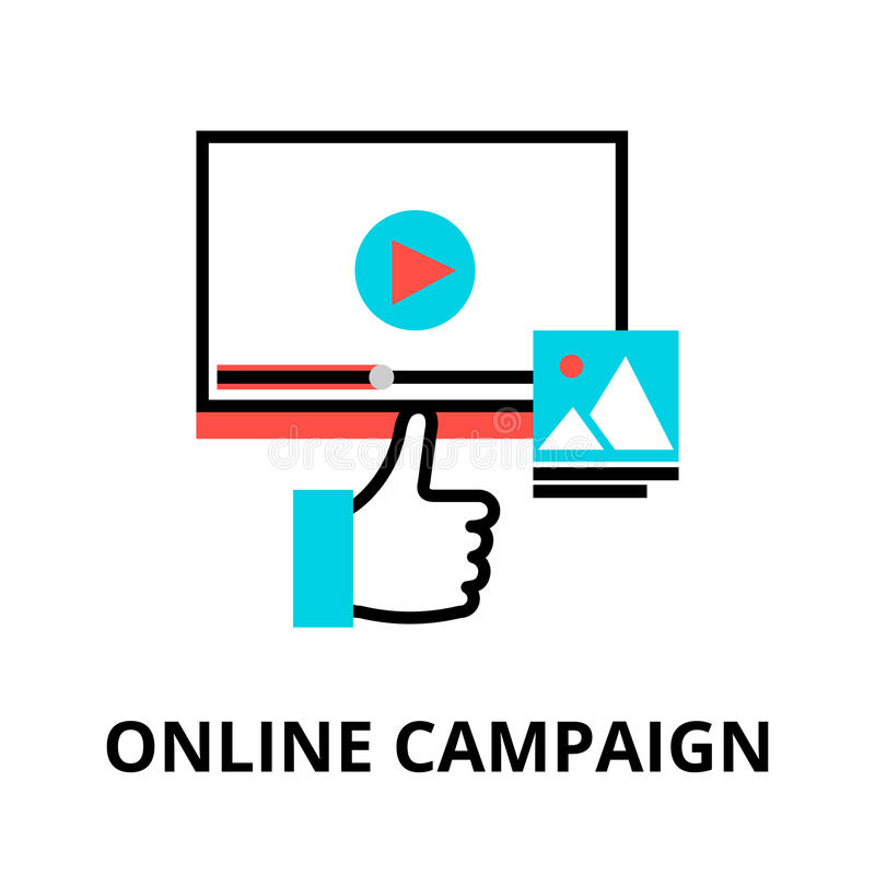 Concepto de campaña en línea ilustración del vector