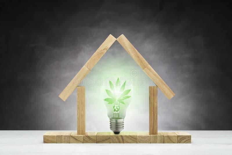 Concepto de casa verde imagen de archivo