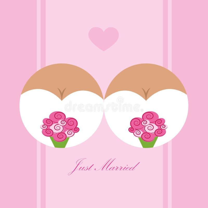 Concepto de casarse lesbiano del amor de dos muchachas libre illustration