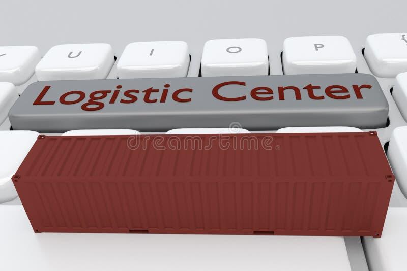 Concepto de centro log?stico ilustración del vector