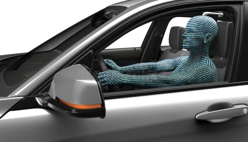 Concepto de coche de uno mismo-conducción libre illustration