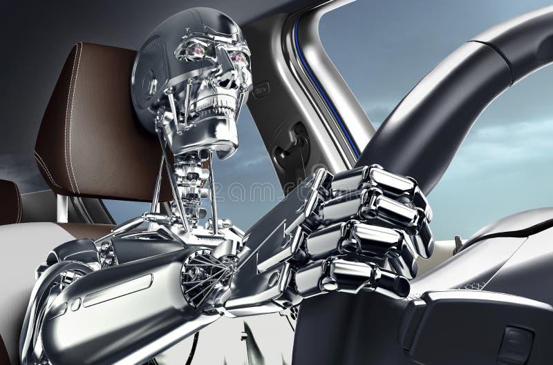 Concepto de coche de uno mismo-conducción ilustración del vector