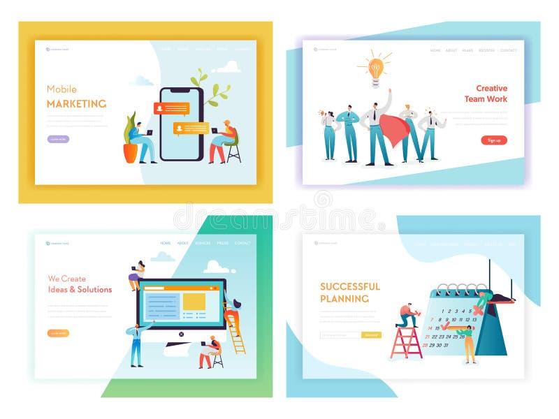 Concepto de comercialización social del desarrollo web medios libre illustration