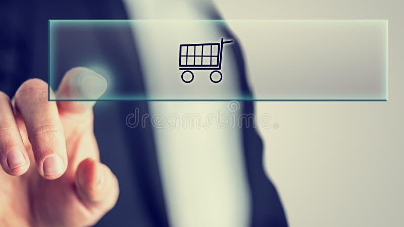 Concepto de compras en línea imágenes de archivo libres de regalías