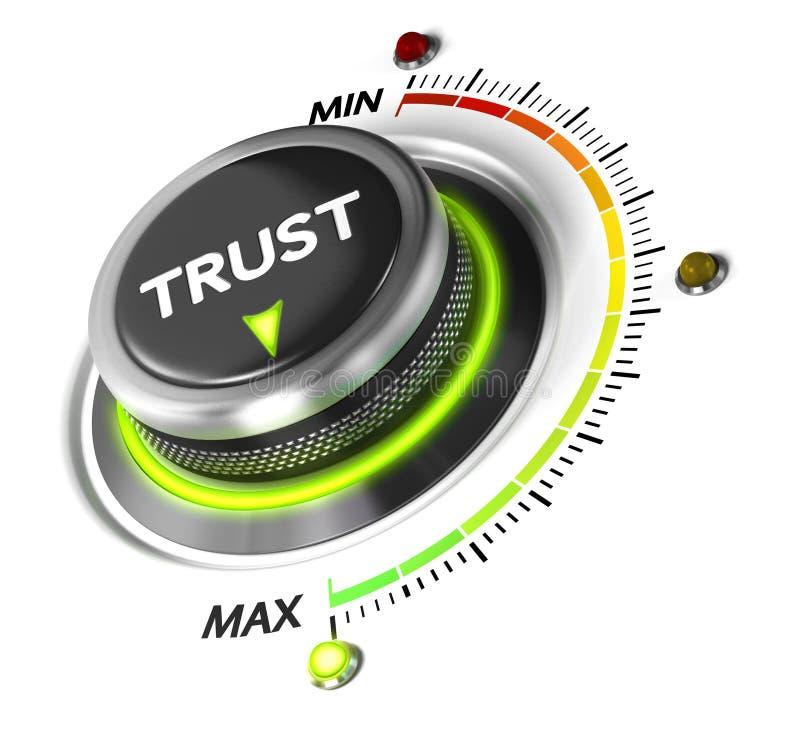 Concepto de confianza del servicio stock de ilustración