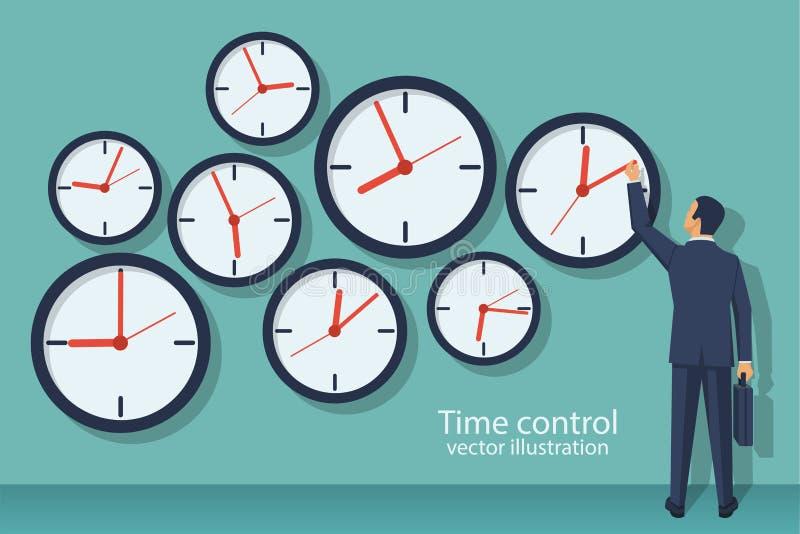 Concepto de control del tiempo libre illustration