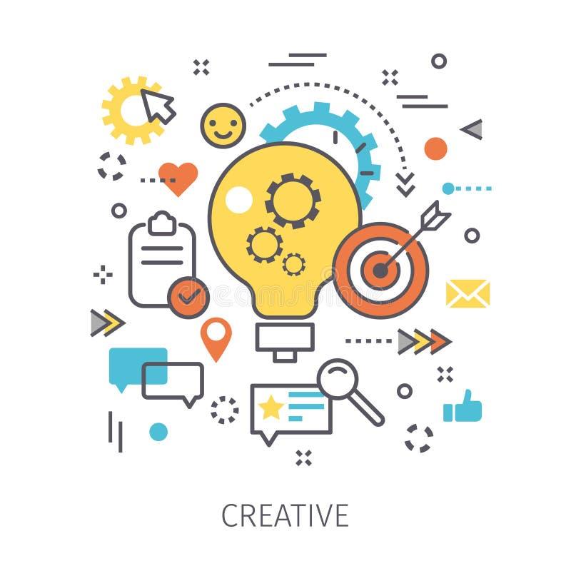 Concepto de creativo stock de ilustración