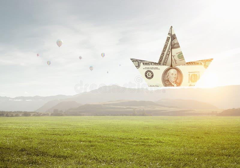 Concepto de crisi financiero Técnicas mixtas fotos de archivo