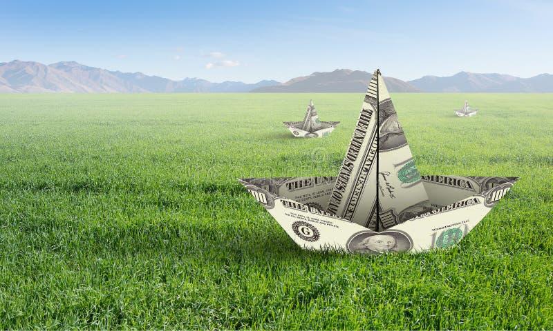 Concepto de crisi financiero Técnicas mixtas fotos de archivo libres de regalías
