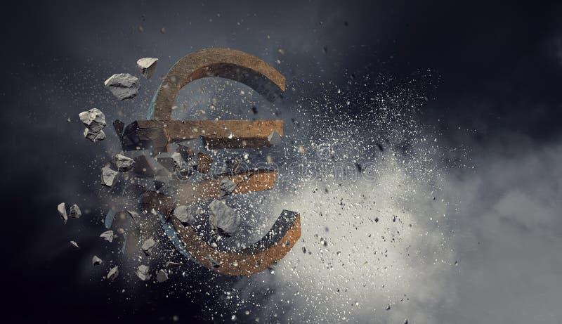 Concepto de crisi financiero Técnicas mixtas fotografía de archivo libre de regalías
