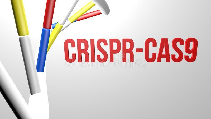 Concepto de CRISPR Cas9 stock de ilustración